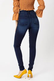 The Premiere High-Rise Dark Wash Super Skinny Jeans