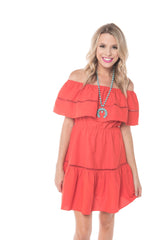 Tide Off the Shoulder Dress