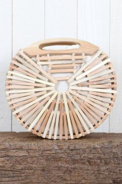 Handmade Wooden Circle Bag