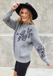The Metallic Floral Holiday Sweater