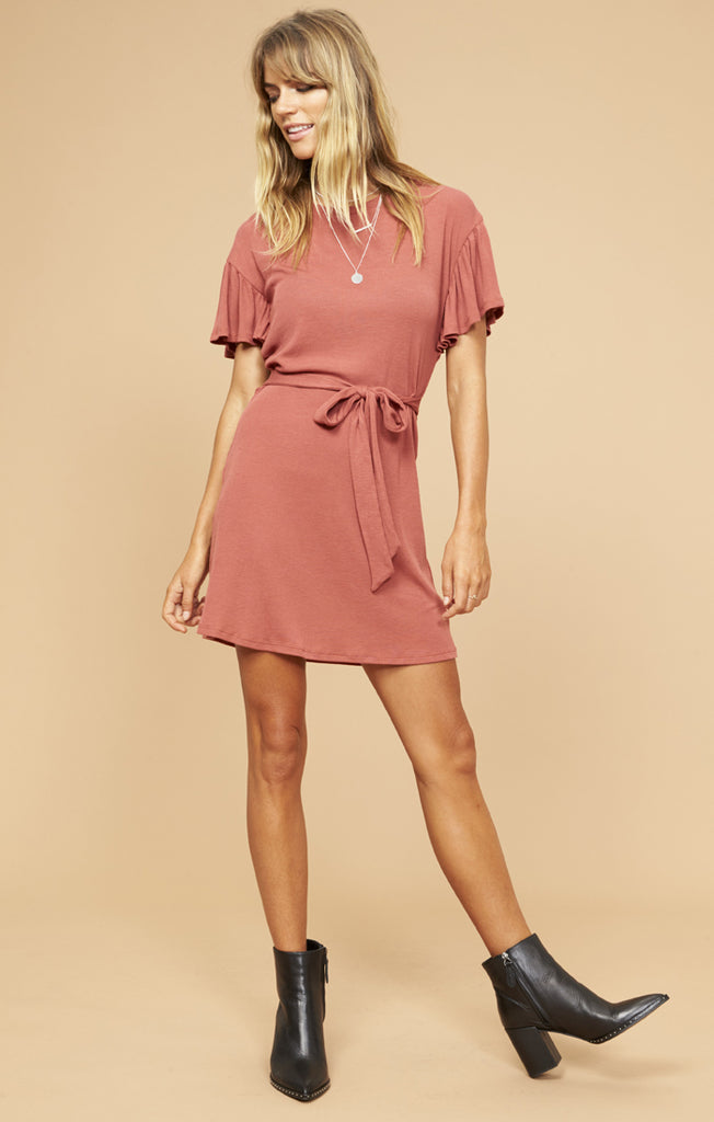 Dolly Tee Dress- Brick