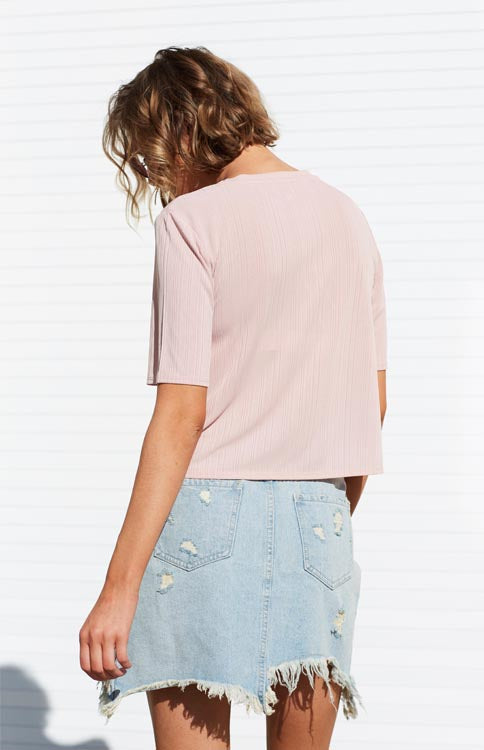Dust Storm Denim Skirt - Desert Wash