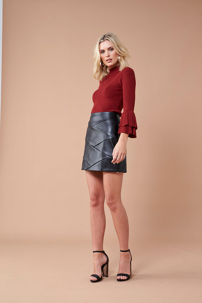 Ezra Knit Top - Rust