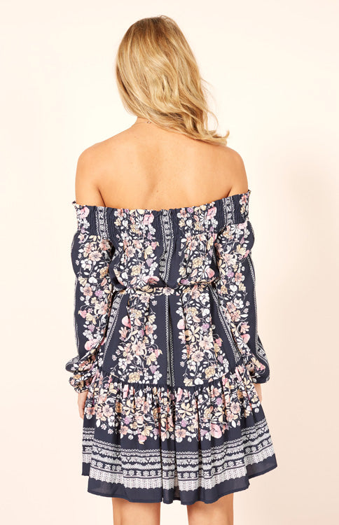 In Bloom Off Shoulder Dress