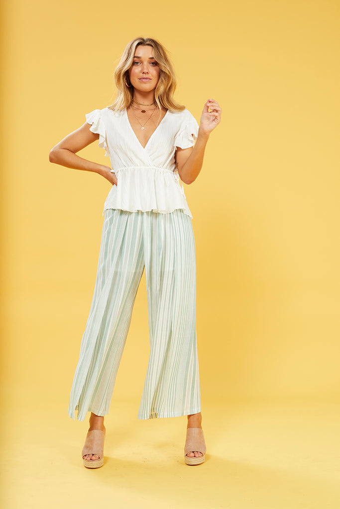 Low Tide Tie Front Pants