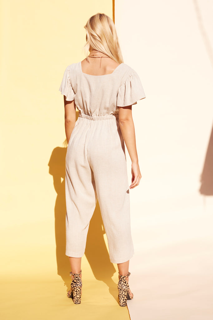 The Natural Tie Front Jumpsuit