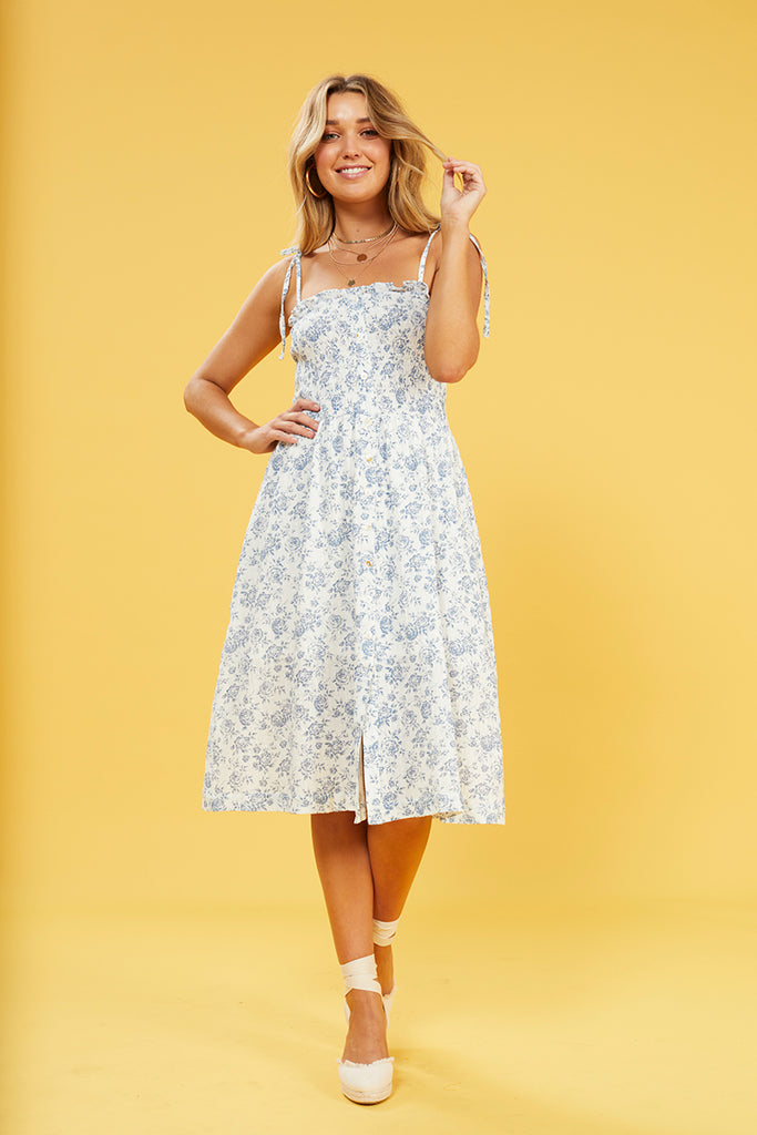 Skye Rose Midi Dress