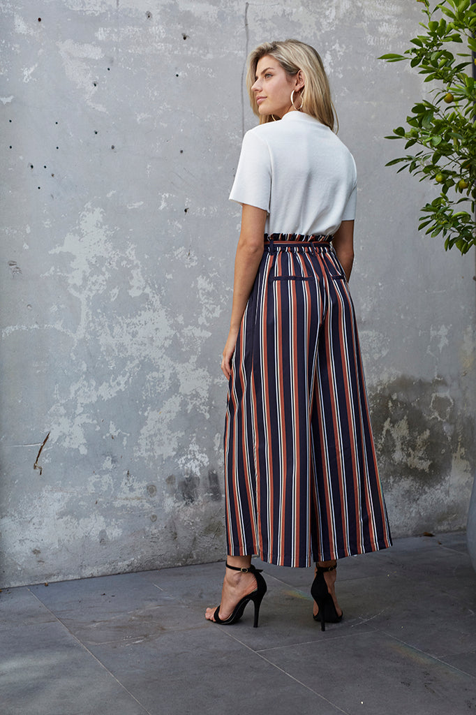 Striped Cropped Trousers