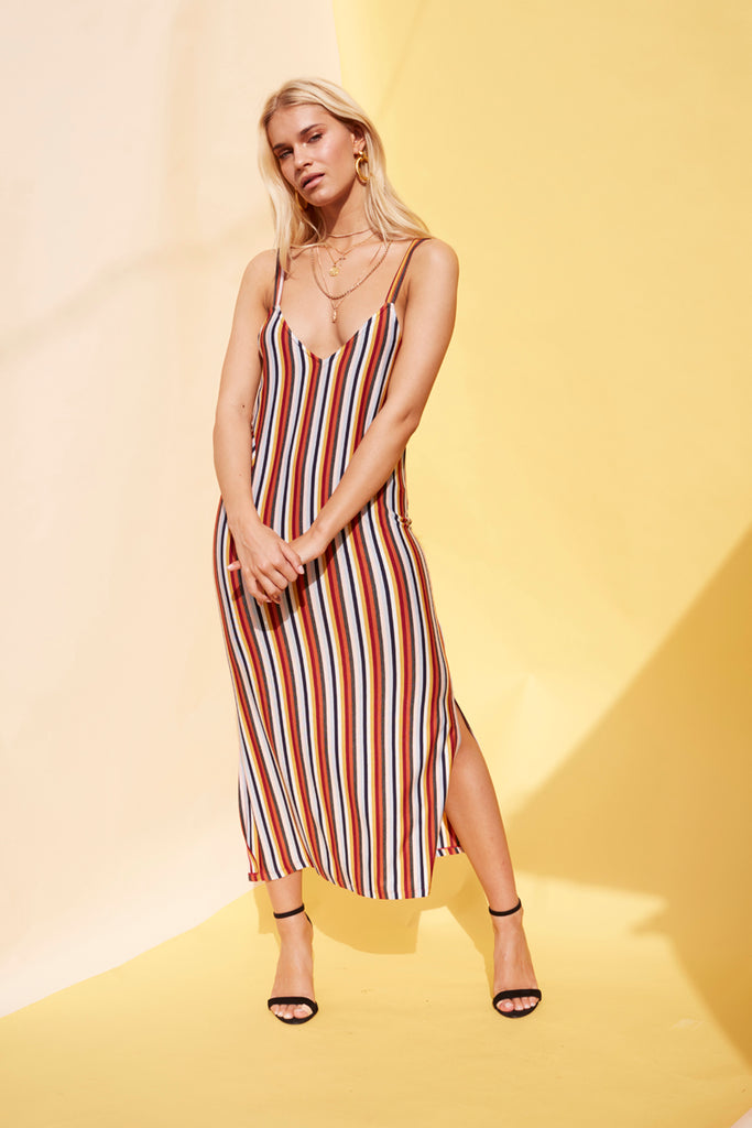 Stripey Loose Fit Maxi Dress