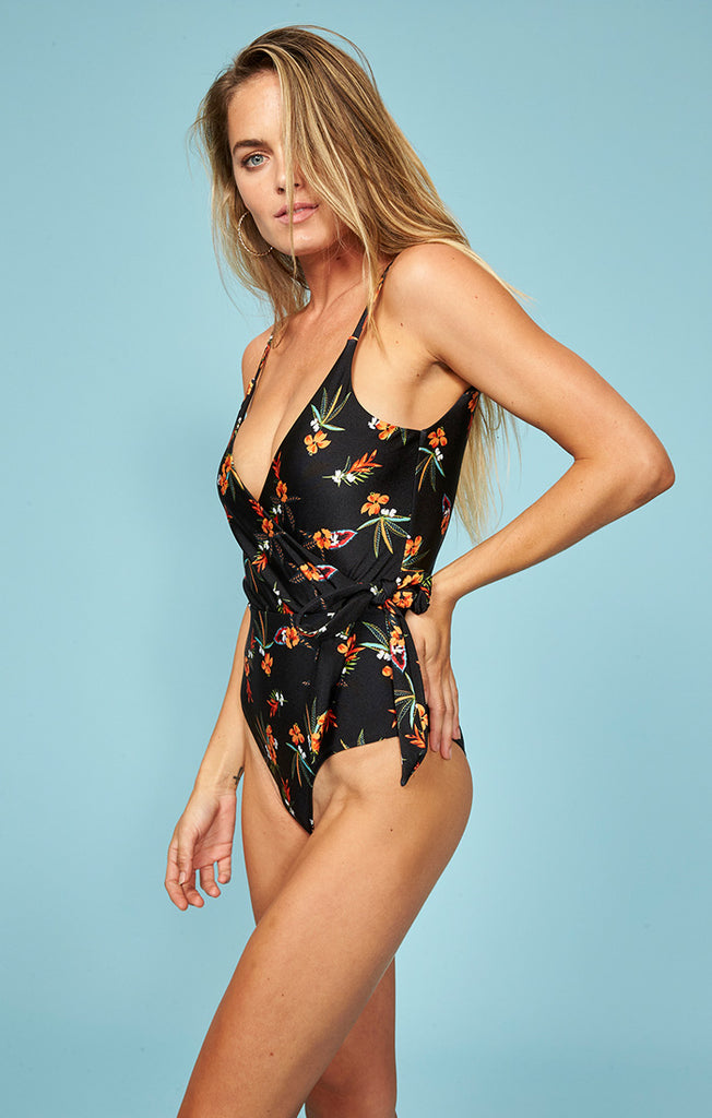Sunkissed Wrap Front One Piece