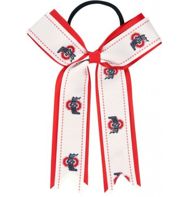 Ohio State Buckeyes Bow Ponytail Holder