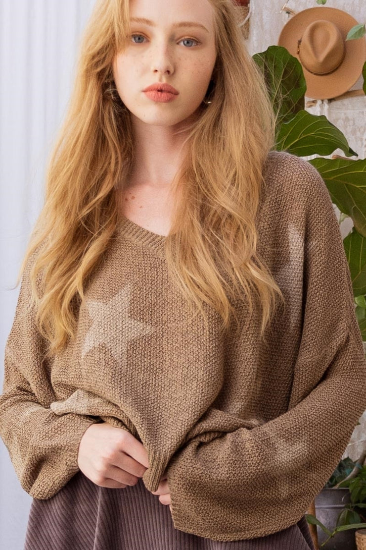 The Wish Upon a Star Sweater (Mocha)