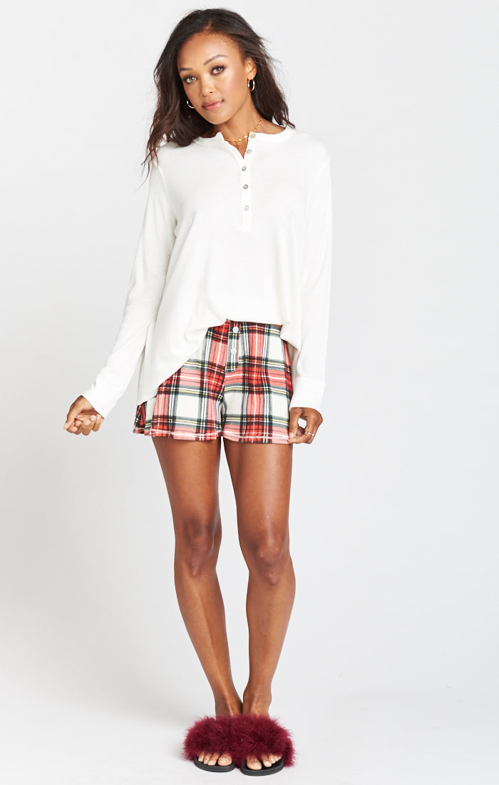 Plaid About You Slumber Party Shorts