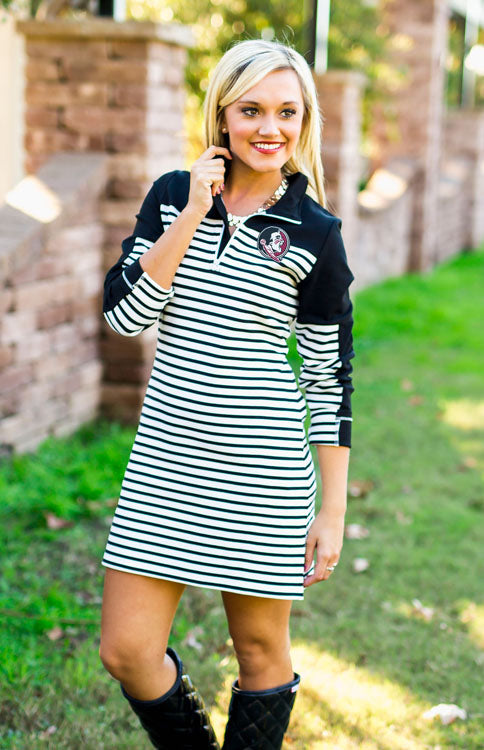 Florida State Preppy 1/4 Zip Dress