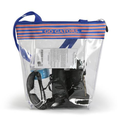 Florida Gators Clear Stadium Zipper Tote