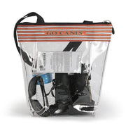 Miami Clear Zipper Stadium Tote
