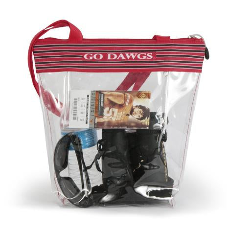 Georgia Clear Zipper Stadium Tote