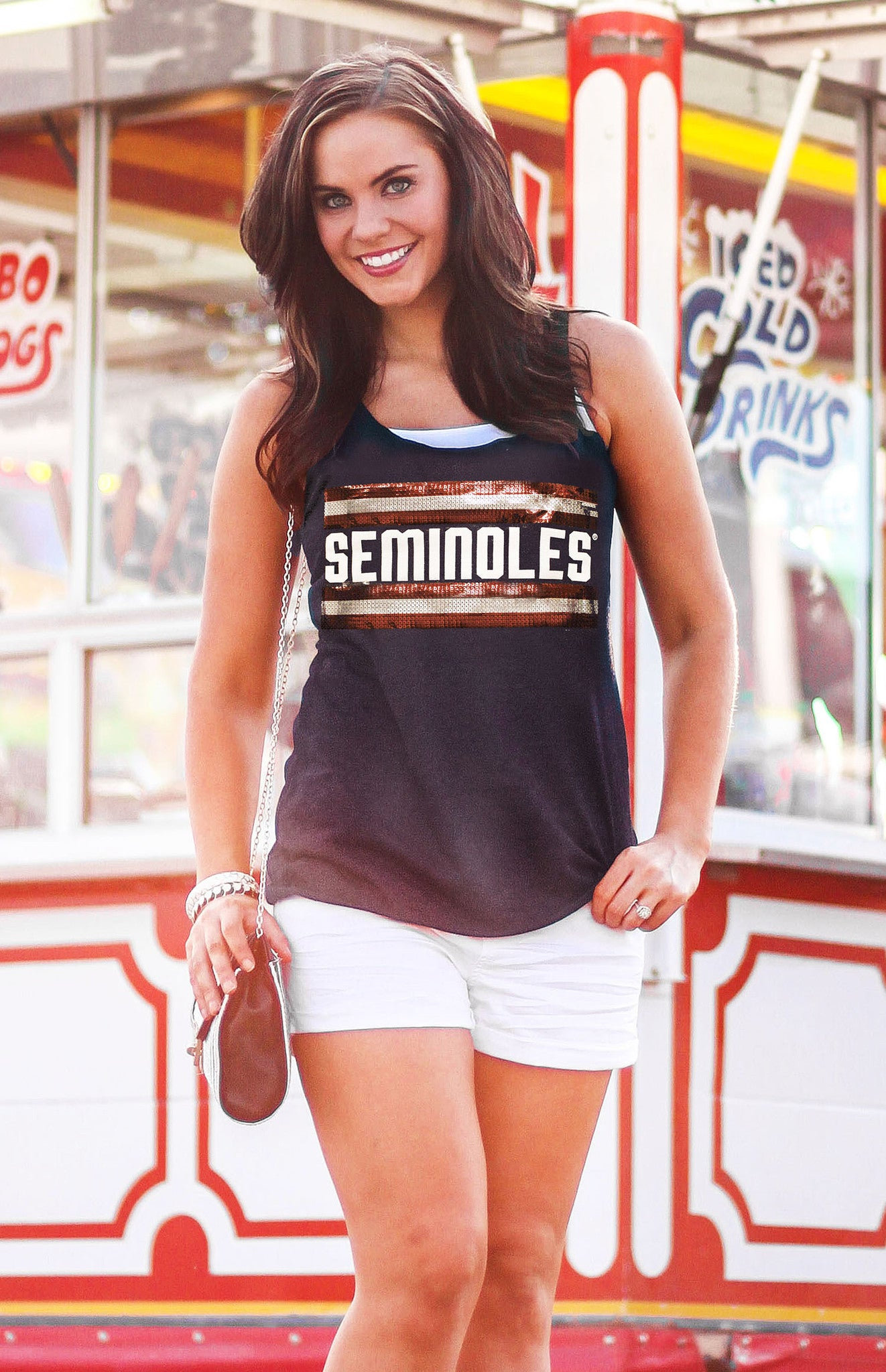 Seminoles Retro Racerback Tank Tank Game Day Couture - Bows and Arrows FSU Seminoles and UF Gators Women's Game Day Dresses and Apparel
