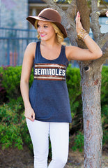 Seminoles Retro Racerback Tank Tank Game Day Couture - Bows and Arrows FSU Women's Game Day Dresses and Apparel