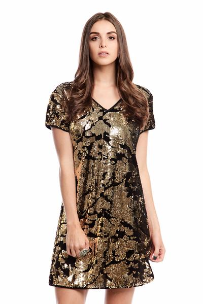 Sammy Sequin & Velvet Dress