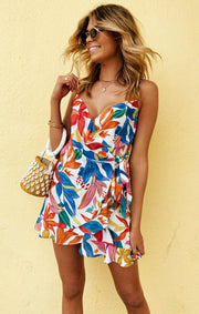 Say Jay Ruffle Dress Bright Blooms