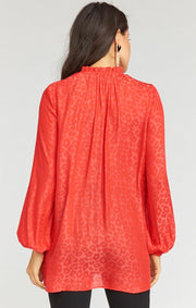 Alicia Tunic Red Silky Cheetah (4324104831024)