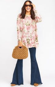 Bonfire Sweater Hydrangea Blooms Knit (4440757370928)