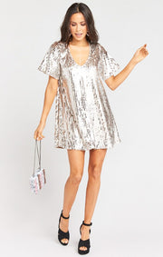 Emi Tunic Dress Platinum Party Sequins (4324097851440)