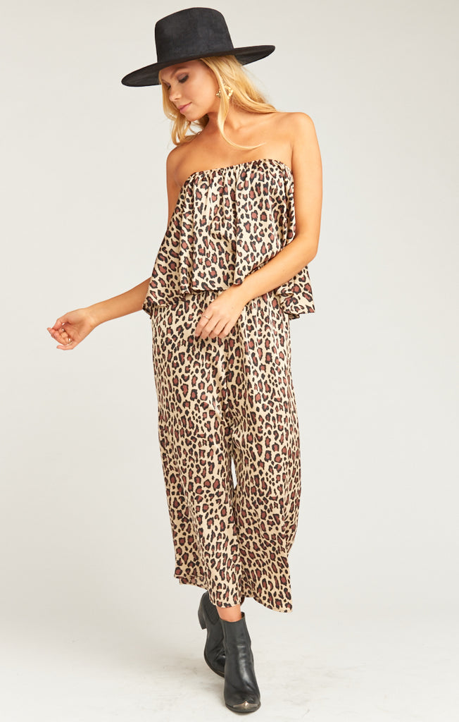 The Rowe Ruffle Jumpsuit Cheetah Fever