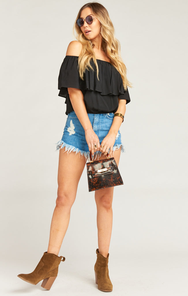 Bungalow Bubble Black Crepe