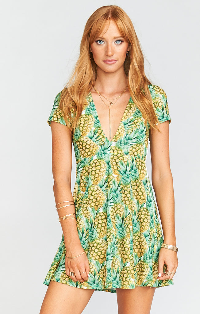 Ibiza Pineapple Paradise Crinkle Dress