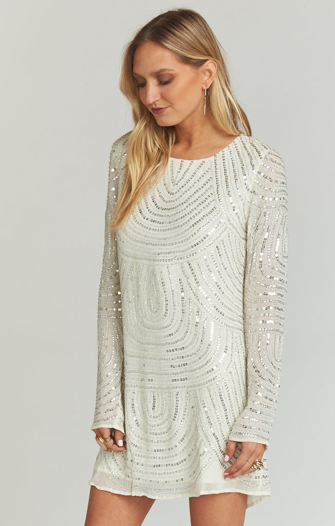 Iggy Frosted Beaded Sequins Dress