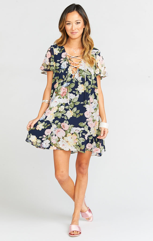 Kylie Party Blossom Lace Up Dress
