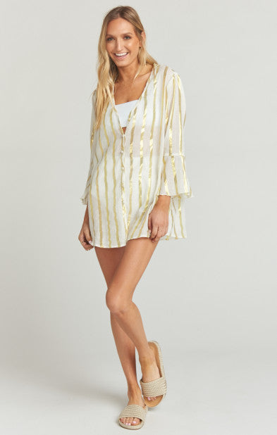 Mercer Tunic South Beach Stripe Gold