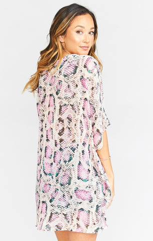 Peta Pretty Little Python Lace-Up Tunic