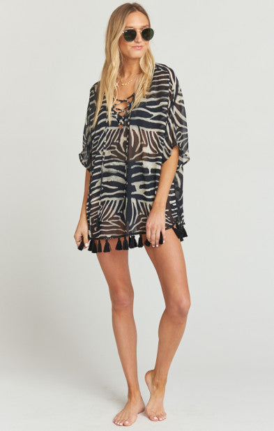 Tennessee Tassel Tunic Zebra King