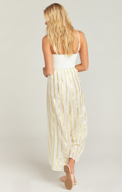 The Beach Pants South Beach Gold Stripe