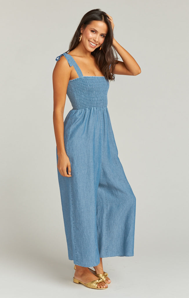 The Parton Playsuit Anchor Chambray