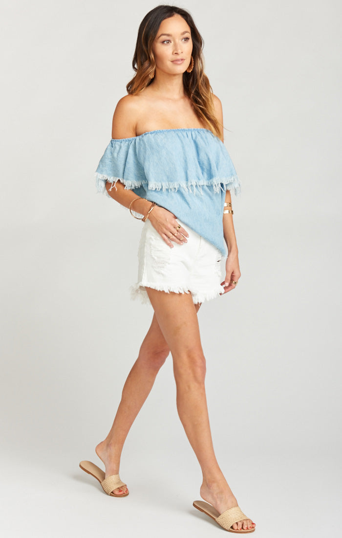 Wyoming Coco Colada High Waisted Shorts (559541288993)