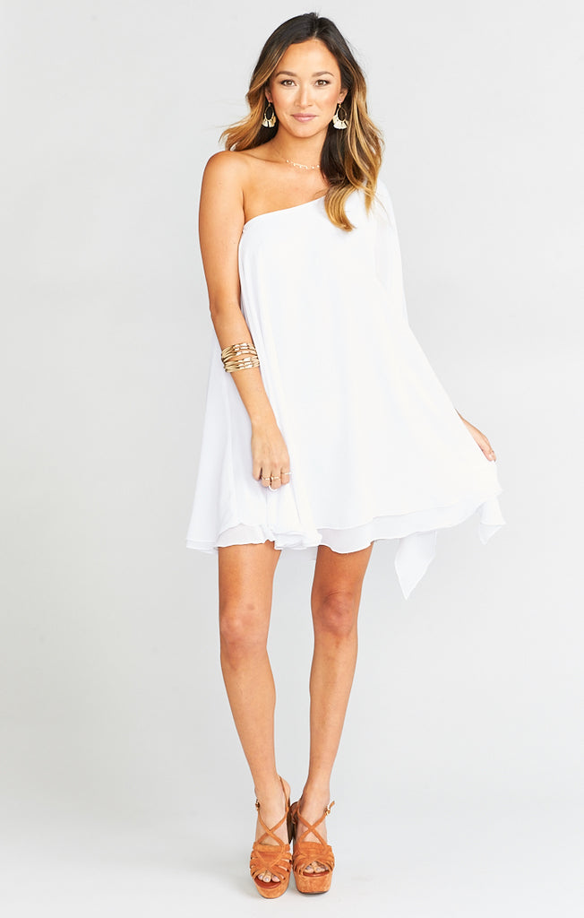 Zsa Zsa White Chiffon Dress