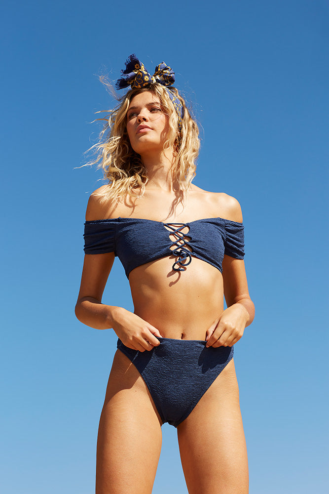 Midnight Swim High Bottoms - Midnight Blue