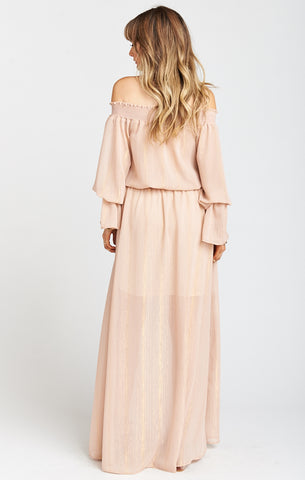 Sparkle & Shine Mauve Wanda Maxi Dress