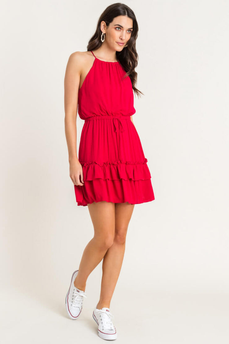 The Athens Tiered Mini Dress