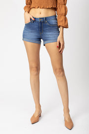 The Everyday Mid-Rise Denim Short (Medium Wash)