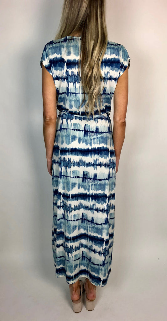 The Ajay Surplice Maxi Dress
