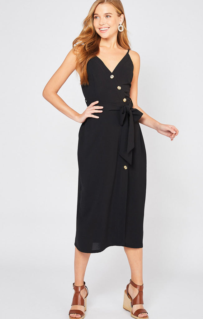 The Black Safari Midi Dress
