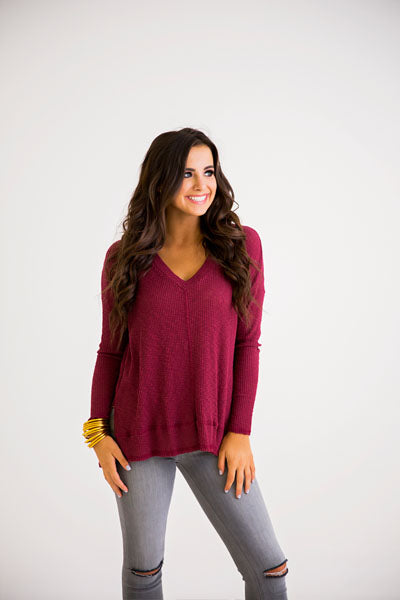 The Brittney Burn-Out Ribbed Top