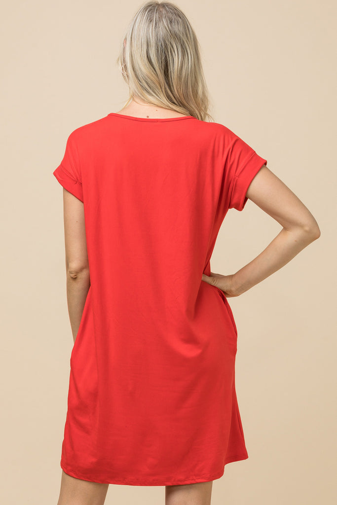 The Classic Red Game Day Tee Dress