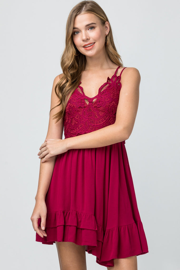 The Courtney Crochet Lace Dress