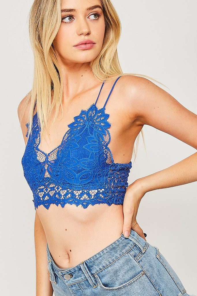 The Emmie Bralette - Royal Blue
